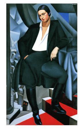 Portrait of the Dutchess de la Salle, c.1925 by Tamara de Lempicka
