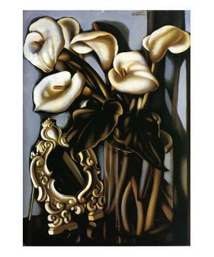 Still Life with Arum Lilies and Mirror, c.1935 by Tamara de Lempicka