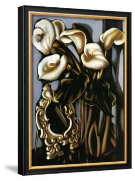 Still Life with Arum Lilies and Mirror, c.1935 by Tamara de Lempicka