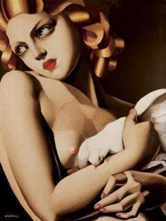 Woman with Dove by Tamara de Lempicka