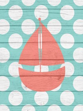 Nautical Sailboat Wood by Tamara Robinson
