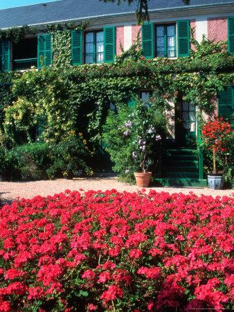 Exterior of Painter Monet's House, Giverny, France