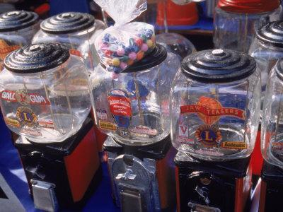 Old Bubble Gum Machines for Sale Outdoors