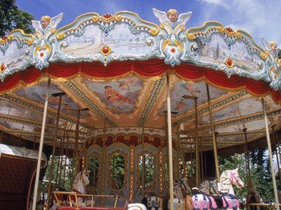 Old Carousel in Tuileries Garden, Paris, France