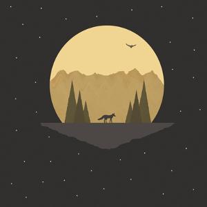 Fox under the Stars by Tammy Kushnir