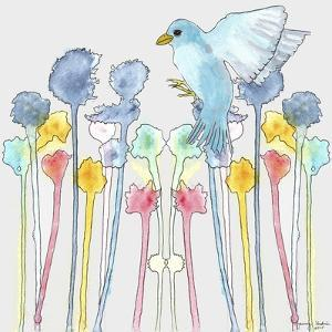 Wildflowers with Bird by Tammy Kushnir