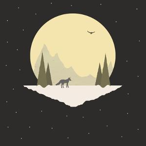 Wintertime Wolf by Tammy Kushnir