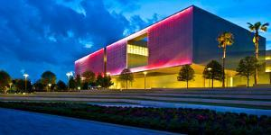 Tampa Museum of Art at dusk, Tampa, Hillsborough County, Florida, USA