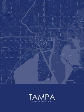 Tampa, United States of America Blue Map