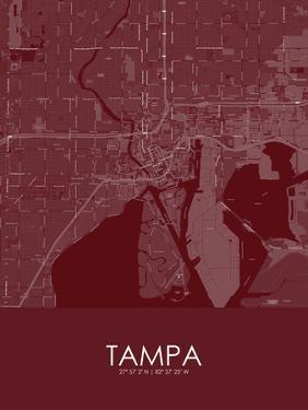 Tampa, United States of America Red Map