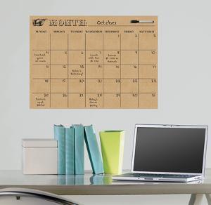 Tan Dry Erase Calendar