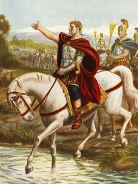 Julius Caesar Crossing the Rubicon by Tancredi Scarpelli