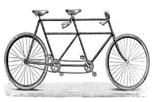 Tandem Bicycle, c1900