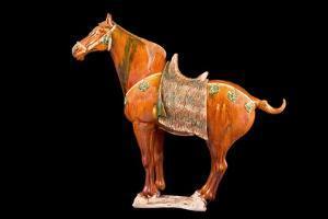 Tang Dynasty Sancai Glazed Horse