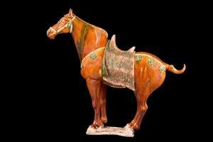 Tang Dynasty Sancai Glazed Horse