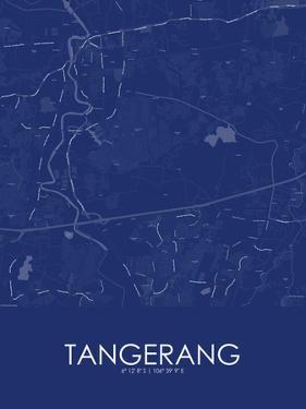 Tangerang, Indonesia Blue Map