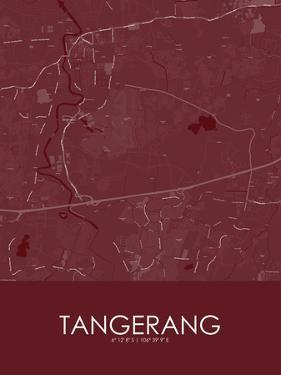 Tangerang, Indonesia Red Map