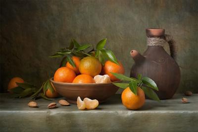 Tangerines & Jug Still Life