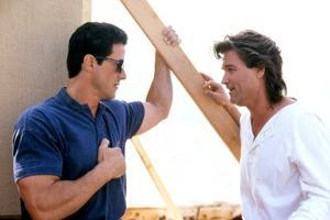 TANGO & CASH, 1989 directed by ANDREY KONCHALOVSKIY Sylvester Stallone and Kurt Russell (photo)