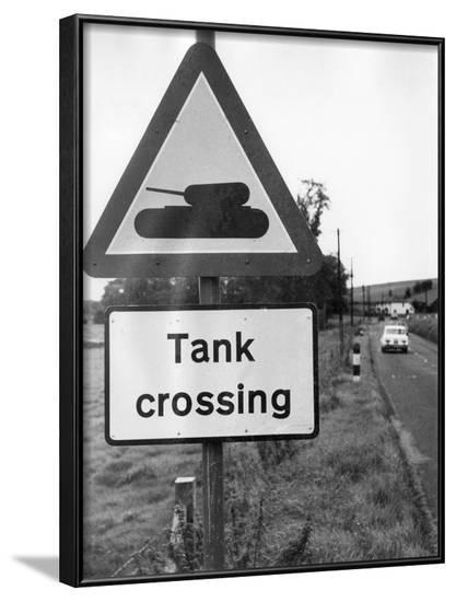 Tank Crossing--Framed Photographic Print