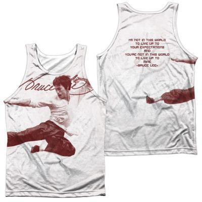 Tank Top: Bruce Lee- Expectations (Front/Back)