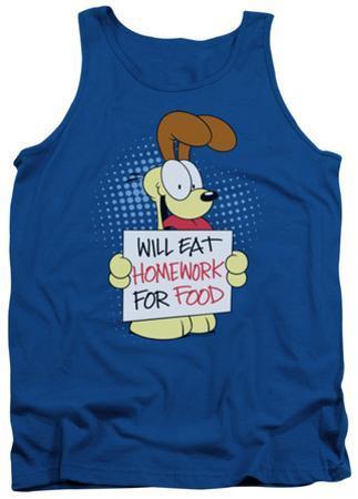 Tank Top: Garfield - Will Eat Homework