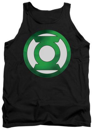 Tank Top: Green Lantern - Green Chrome Logo