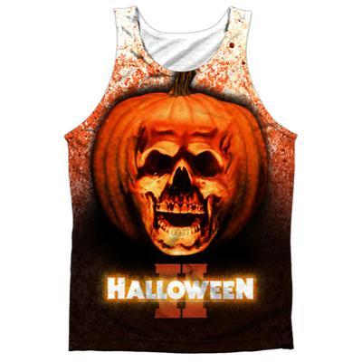 Tank Top: Halloween II - Pumpkin Skull