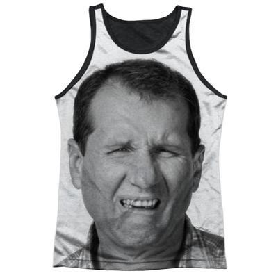 Tank Top: Married With Children- Al Stink Face Black Back