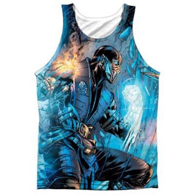 Tank Top: Mortal Kombat- Sub Zero Vs. Scorpion