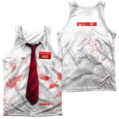 Tank Top: Shawn Of The Dead- Bloody Shirt (Front/Back)