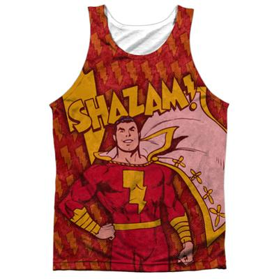 Tank Top: Shazam- Lightning Bolts