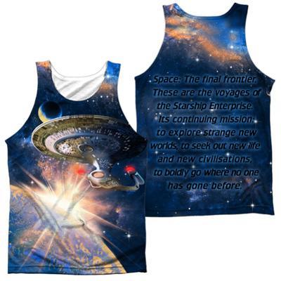 Tank Top: Star Trek:Next Generation- Galaxy Class (Front/Back)