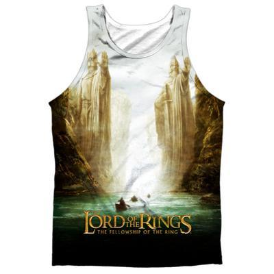 Tank Top: The Lord Of The Rings: The Fellowship Of The Ring- Fellowship Poster (Black Back)