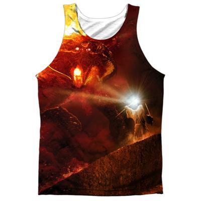 Tank Top: The Lord Of The Rings: The Fellowship Of The Ring- No Passing (Black Back)