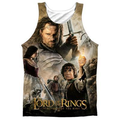 Tank Top: The Lord Of The Rings: The Return Of The King- King Poster (Black Back)