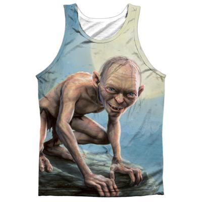 Tank Top: The Lord Of The Rings: The Two Towers- Gollum Moon (Black Back)
