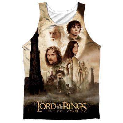 Tank Top: The Lord Of The Rings: The Two Towers- Towers Poster (Black Back)