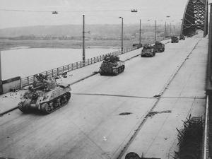 Tanks Cross Nijmegen Bridge