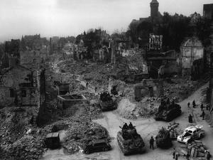 Tanks of the U.S. 7th Army Rumble Through Nuremberg