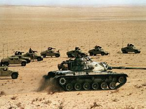Saudi Arabia Army U.S Forces Maneuver Exercise Kuwait Crisis by Tannen Maury