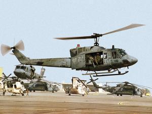 Saudi Arabia Army U.S. Marine UH-1 Huey Helicopters by Tannen Maury