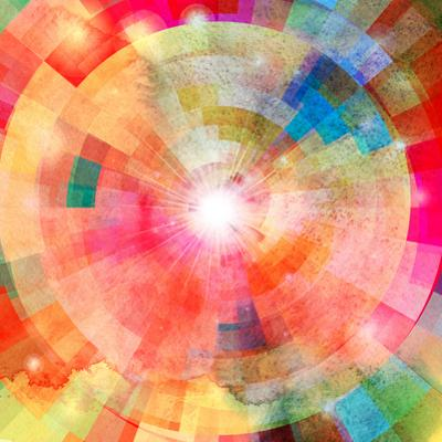 Abstract Colorful Background with Sun by tanor27
