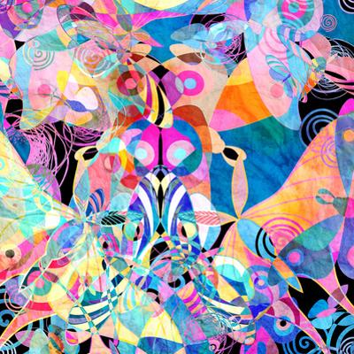 Background Multicolored Butterflies by tanor27