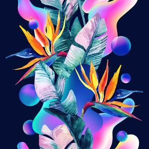 Colorful Fluid and Geometric Shapes by tanycya