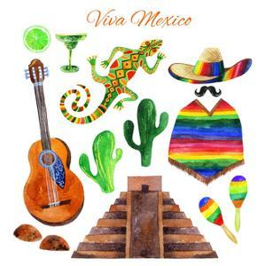 Viva Mexico Watercolor Set by tanycya
