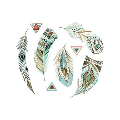 Watercolor Tribal Feather Set by tanycya