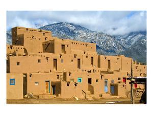Taos Pueblo in New Mexico Usa