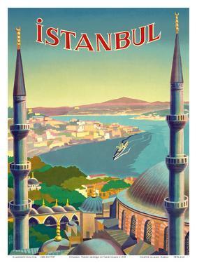 Istanbul, Turkey - Through the Minarets of a Mosque by Tar?k Uzmen