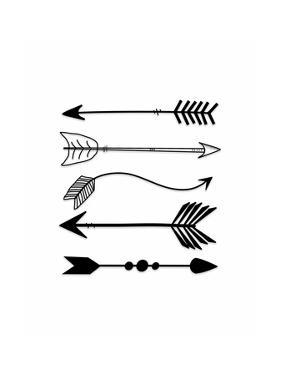 Black Arrows on White by Tara Moss